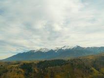 White mountains snow on peaks Royalty Free Stock Photo