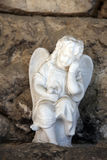 A white mourning porcelain angel at Mirogoj cemetery, Zagreb Stock Photography