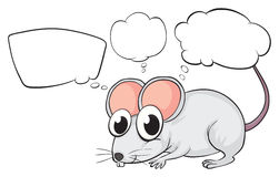 A white mouse with empty callouts Royalty Free Stock Images