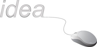 White Mouse and Idea Stock Images