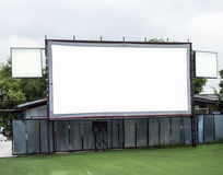White movie screen Royalty Free Stock Image