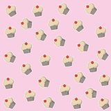 White muffin design. Muffin of dessert sweet and bakery theme Vector illustration Royalty Free Stock Photography
