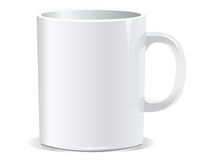 White mug Royalty Free Stock Image