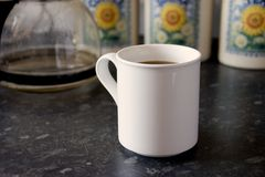 White Mug 3. A white mug of coffee Royalty Free Stock Photo