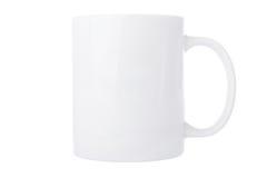 White mug. Isolated on white background Royalty Free Stock Images