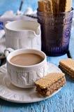 White mug of brown liquid Royalty Free Stock Photo