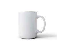 White mug close-up Royalty Free Stock Image