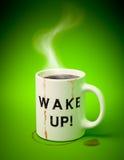 White mug with coffee Stock Image