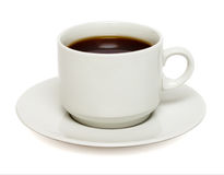 White mug of coffee isolated Stock Photo