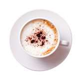 White mug of coffee isolated Stock Images