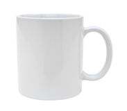 White mug cutout Royalty Free Stock Photography