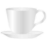 White mug empty blank for coffee or tea Royalty Free Stock Photo