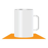 White mug  illustration Stock Photography