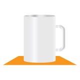 White mug  illustration Stock Photography