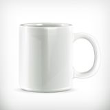 White mug illustration Royalty Free Stock Photos