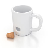 White mug Stock Image