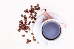 White mug tea coffee Isolated Royalty Free Stock Image