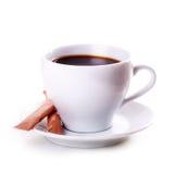 White mug tea coffee Isolated Stock Photos