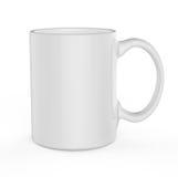 White mug template Royalty Free Stock Images