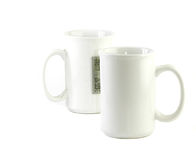 White mugs Stock Photography