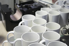 White mugs for sublimation printing Royalty Free Stock Image