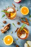 White mulled wine royalty free stock photography