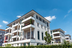 White multi-family house seen in Berlin Royalty Free Stock Photos