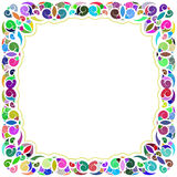 White and multicolored tropical framework Royalty Free Stock Photo