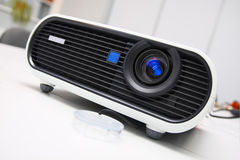 White multimedia projector Royalty Free Stock Images