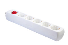 White multiple socket . stock photos