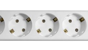 White multiple socket detail Stock Image