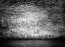 White murky brick wall. Texture with foreground Stock Photo