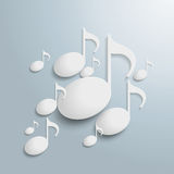 White Musc Notes. White music notes on the grey background. Eps 10 file royalty free illustration