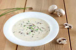 White mushroom soup Stock Photography