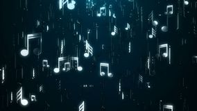 White Music Notes. Abstract Background. Digital Illustration Royalty Free Stock Images