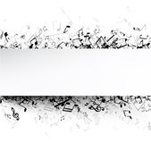 White musical background with notes. White musical background with black notes. Vector paper illustration royalty free illustration