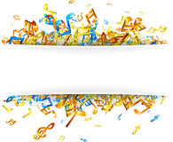 White musical background with notes. Royalty Free Stock Photo
