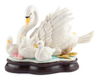 White mute swan statue Royalty Free Stock Image