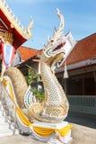 White Naga statue Royalty Free Stock Photos