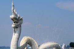 White Naga Statues Stock Photos
