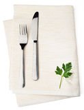 White napkin Stock Images