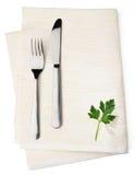 White napkin Stock Images