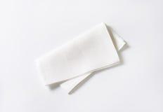 White napkin Royalty Free Stock Images