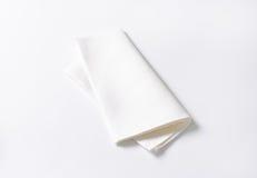 White napkin Stock Photos