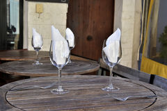 White napkin in a glass Royalty Free Stock Photos