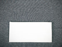 White napkin on a gray tablecloth Royalty Free Stock Photo