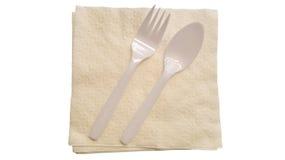 White napkin Stock Photography