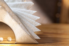 White napkins holder Stock Photo