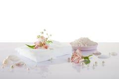 White napkins isolated Royalty Free Stock Photos