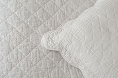 White natural textiles Stock Images